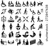 black and white disability and... | Shutterstock .eps vector #272847638