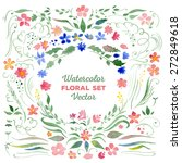 set of floral elements   vector ... | Shutterstock .eps vector #272849618