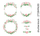 watercolor floral frames ... | Shutterstock .eps vector #272849630