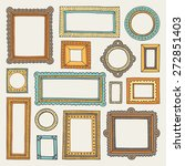 vector set of vintage doodle... | Shutterstock .eps vector #272851403