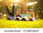 group of happy children lying... | Shutterstock . vector #272851823