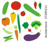 isolated vegetables | Shutterstock .eps vector #27285211