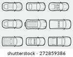 vector cars in outline style ... | Shutterstock .eps vector #272859386