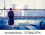businessman thinking... | Shutterstock . vector #272862374