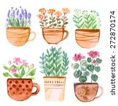 Mugs Painted With Watercolors...