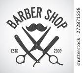 vintage barber shop logo... | Shutterstock .eps vector #272871338
