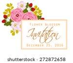 flower blossom. romantic... | Shutterstock .eps vector #272872658