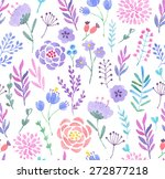 watercolor seamless pattern.... | Shutterstock .eps vector #272877218