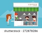coffee shop | Shutterstock .eps vector #272878286