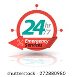 arrow circle service 24h icon ... | Shutterstock .eps vector #272880980