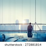 businessman thinking... | Shutterstock . vector #272881814