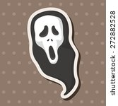 ghost theme elements  | Shutterstock .eps vector #272882528