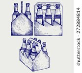 beer six pack in three boxes.... | Shutterstock . vector #272884814