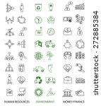 set of 48 ecology  human... | Shutterstock .eps vector #272885384