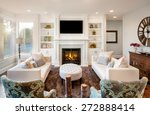 beautiful living room with ... | Shutterstock . vector #272888414