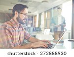 male office worker browsing in... | Shutterstock . vector #272888930