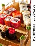 japanese cuisine   sushi set | Shutterstock . vector #272891603
