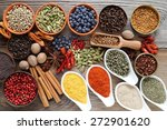 aromatic spices in metal and... | Shutterstock . vector #272901620