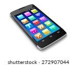 touchscreen smartphone ... | Shutterstock . vector #272907044