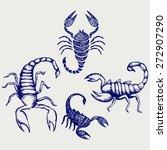 scorpion pandinus imperator.... | Shutterstock . vector #272907290