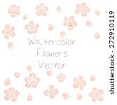 watercolor vector flowers. a... | Shutterstock .eps vector #272910119