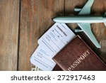 airline tickets and documents... | Shutterstock . vector #272917463