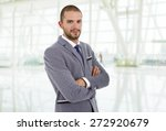 young business man portrait at... | Shutterstock . vector #272920679