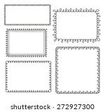 set of doodle loop frames  | Shutterstock .eps vector #272927300
