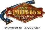 retro route 66 diner sign ... | Shutterstock .eps vector #272927384