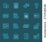 finance and banking icons | Shutterstock .eps vector #272928338