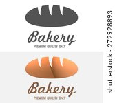 set of modern bakery logos ... | Shutterstock .eps vector #272928893