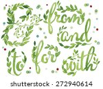 collection of catchwords hand...   Shutterstock .eps vector #272940614