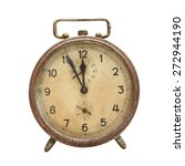 old  retro alarm clock isolated ... | Shutterstock . vector #272944190