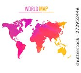 colorful world map vector... | Shutterstock .eps vector #272952446