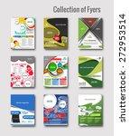 set of flyer   poster design in ... | Shutterstock .eps vector #272953514