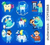 set of icons and illustrations... | Shutterstock .eps vector #272953868