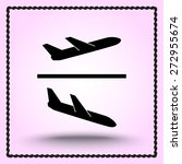 airplane sign icon  vector...   Shutterstock .eps vector #272955674