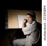 spotlight on artist | Shutterstock . vector #27295894