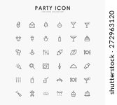 36 party line icons | Shutterstock .eps vector #272963120