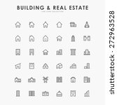 36 building and real estate... | Shutterstock .eps vector #272963528