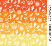 summer pattern. summer elements ... | Shutterstock .eps vector #272964224