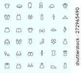 clothing icons  simple and thin ... | Shutterstock .eps vector #272965490