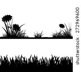 grass silhouettes isolated on... | Shutterstock .eps vector #272969600