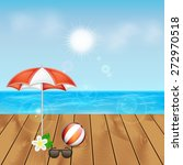 summer background. tropical sea ... | Shutterstock . vector #272970518