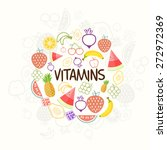 set of nutritious and vitamin... | Shutterstock .eps vector #272972369
