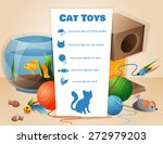 Stock vector cat toys concept with text vector illustration 272979203