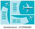 aeroplane hanging banner ... | Shutterstock .eps vector #272986889