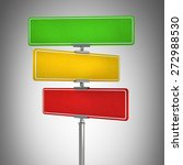 blank color traffic signs high... | Shutterstock . vector #272988530