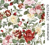 seamless floral pattern with... | Shutterstock . vector #272991170