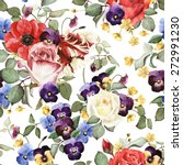 seamless floral pattern with... | Shutterstock . vector #272991230